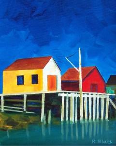 Evening at Blue Rocks by Peter Blais