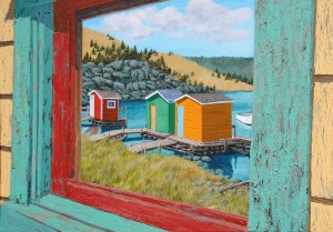 Reflecting Another Time, metal print by Tom Alway 16 x 20 at the Maritime Painted Saltbox Fine Art Gallery in Petite Riviere Nova Scotia