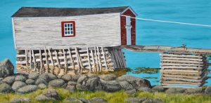 "Lifeline, 18"" x 36"" acrylic on canvas by Tom Alway at the Maritime Painted SaltboxFine Art Gallery in Petite Riviere Nova Scotia"