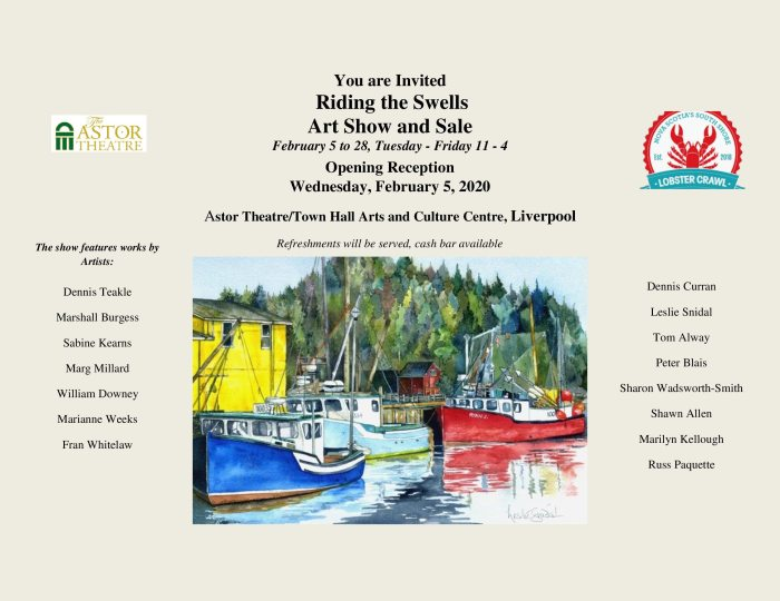 Riding the Swells Art Show Invitation