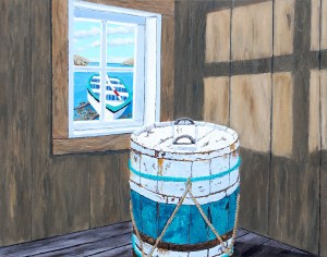 Maintaining Buoyancy, painting by Tom Alway at the Maritime Painted Saltbox Fine Art Gallery