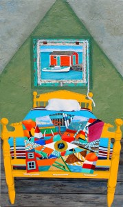 Crazy Quilt in the Land of Nod by Tom Alway at the Maritime Painted Saltbox Fine Art Gallery in Petite Riviere Noa Scotia