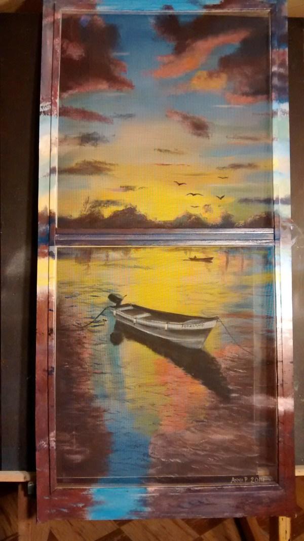 Painted Screen Door Art