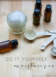 DIY Miracle Moisturizer with Essential Oils