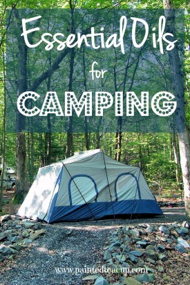 The best essential oils for camping. A list of what to take on your next trip and how you can use them! www.paintedtedteacup.com