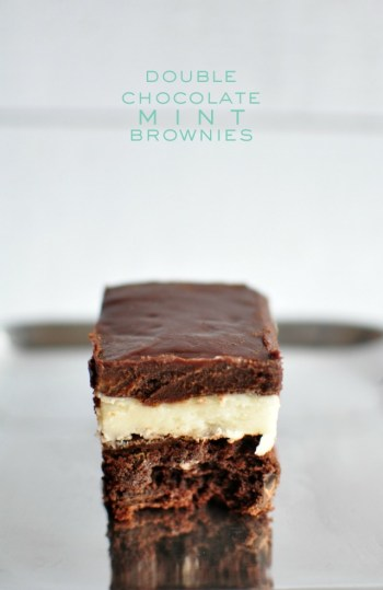 Double Chocolate Mint Brownies with Essential Oils