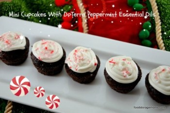 Mini Cupcakes with Peppermint Essential Oil