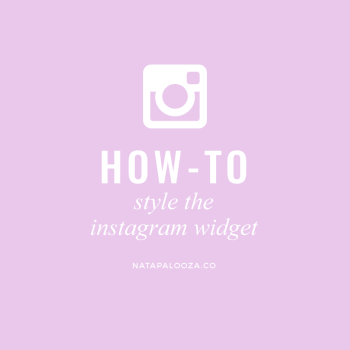 How to style the instagram widget