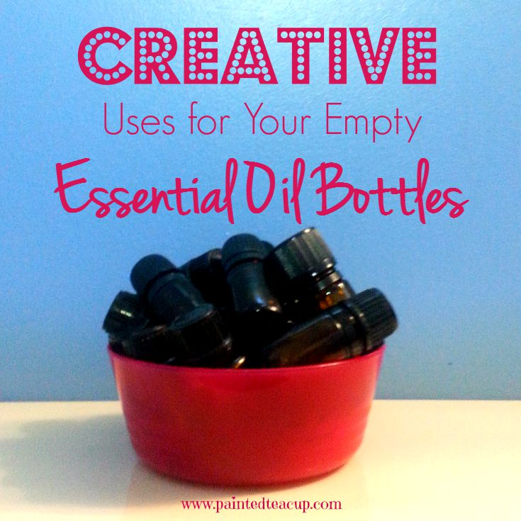 Creative Uses for Your Empty Essential Oil Bottles