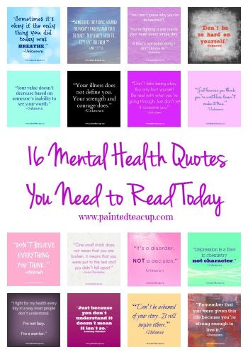 You Will Find 16 Mental Health And Illness Quotes To Help Inspire Encourage