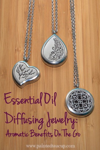 Essential Oil Diffusing Jewelry Aromatic Benefits On The Go. Enjoy your favourite scent all day long! www.paintedteacup.com