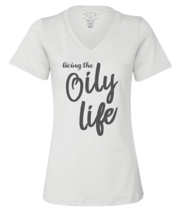 Living the oily life. Super cute essential oil tshirt