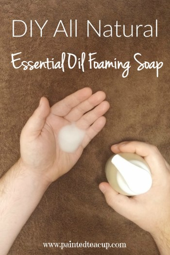 I absolutely loving making and using my own essential oil foaming hand soap! This DIY recipe is all natural, affordable, easy to make and smells great! Click the image to get the recipe!