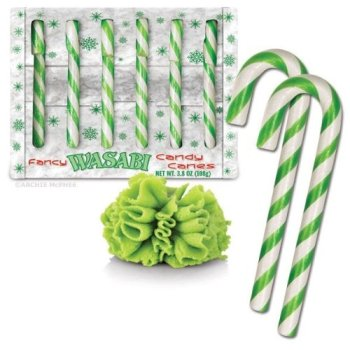 Funny White Elephant Gifts! Wasabi candy canes!