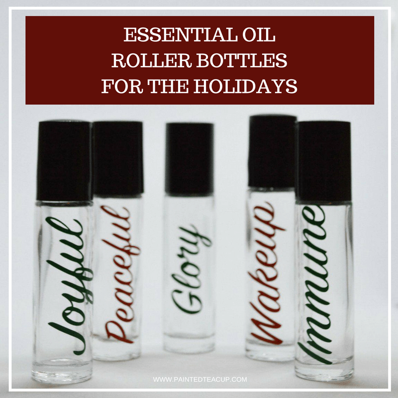 5 easy & affordable essential oil roller bottle blends that are perfect for the holidays! Make these blends for yourself or give them as a Christmas gift! Essential oil roller bottle blends | DIY roller bottle blends | Roller bottle recipes | christmas roller bottle recipes #essentialoils #christmasblends #rollerbottle #diy