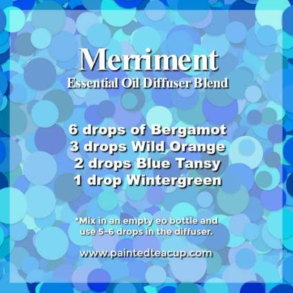 Merriment Diffuser Blend - Wonderful bergamot diffuser blends to inspire joy and hope. These recipes combine bergamot essential oil with other essential oils to help lift your mood! #diffuserblends #essentialoils #bergamot #bergamotessentialoil #diffuserrecipe