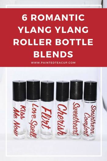 Essential oil roller bottle blends! 6 easy ylang ylang roller bottle blends that are perfect for Valentine's Day, gift giving and make great DIY perfumes! #diyperfume #ylagylang #essentialoilblends #rollerbottle