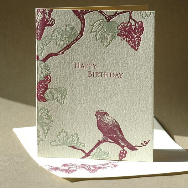 Grapevine Birthday Card