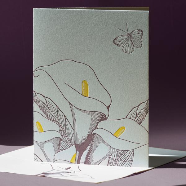 Calla Lily Note Card