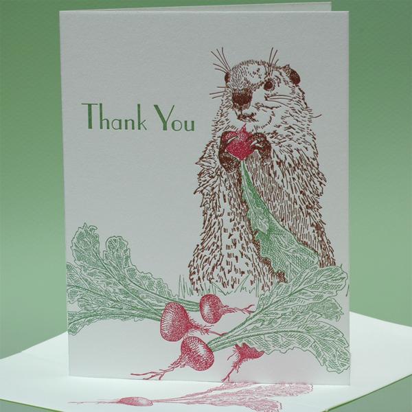 "Turnip with Groundhog, ""Thank You"""