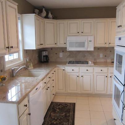 refinishing oak cabinets with glaze  Home Decor