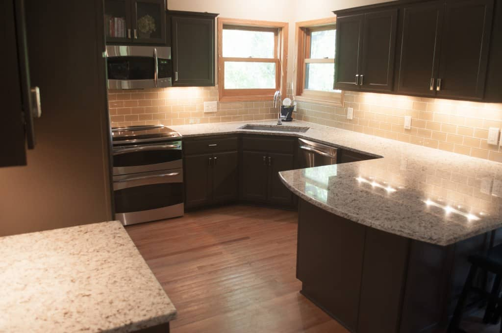 refinishing kitchen countertops french style furniture golden oak cabinets no more! - painterati