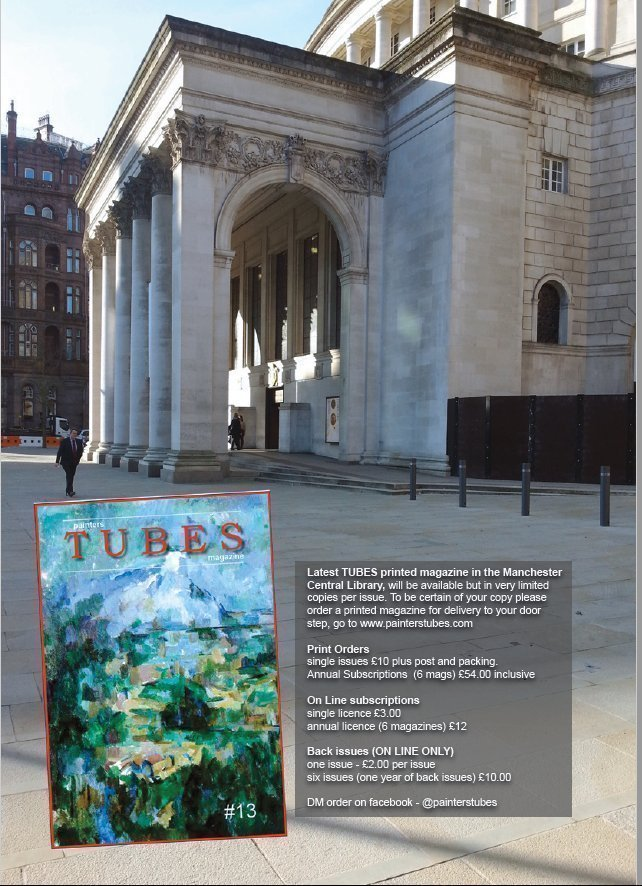 painters TUBES magazine now in Central Gallery Manchester