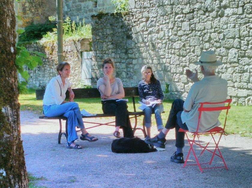 worshops: teaching sarah, loucine and marianne-2