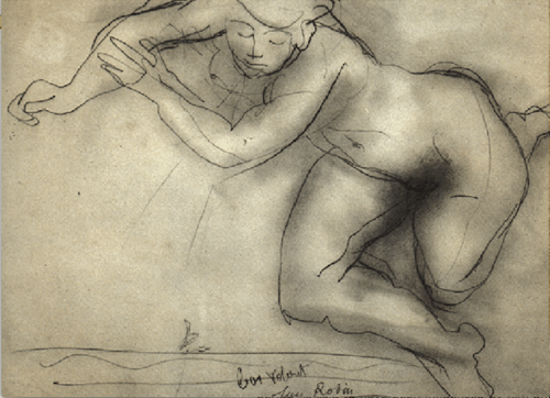by Rodin pupil of Horace Lecoq Boisbaudran