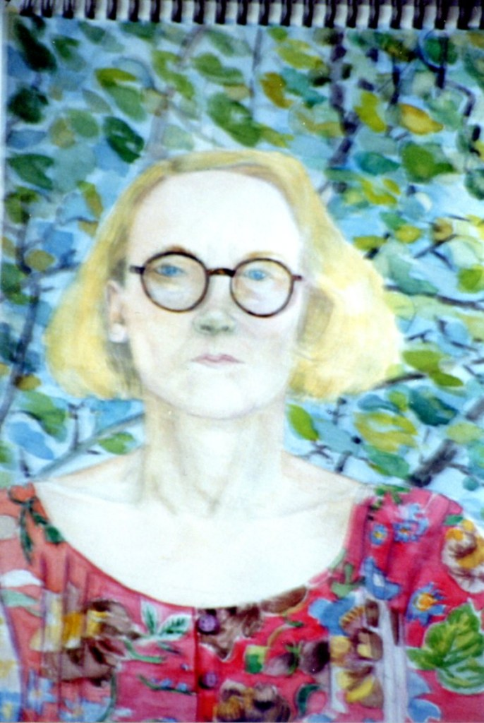 Elke Mehring-watercolour self portrait