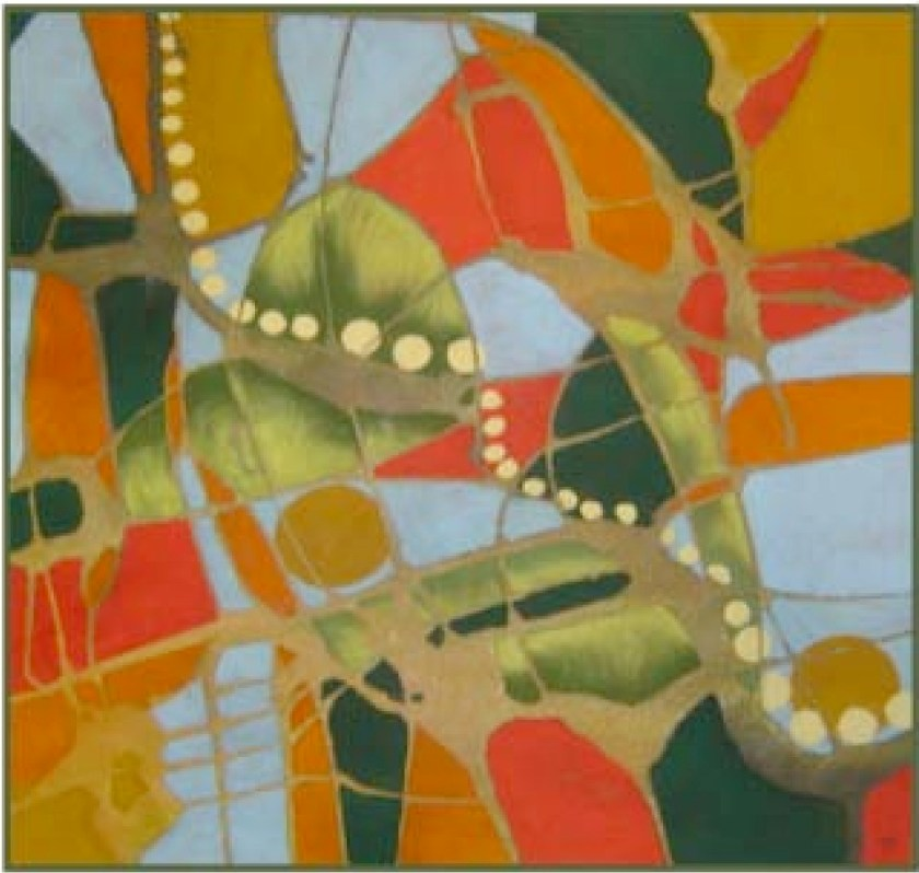 June Emerson-abstract colours and shapes