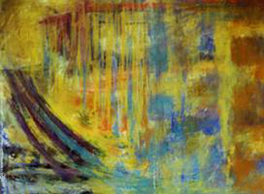 Olliver Gollanz abstract painting 2