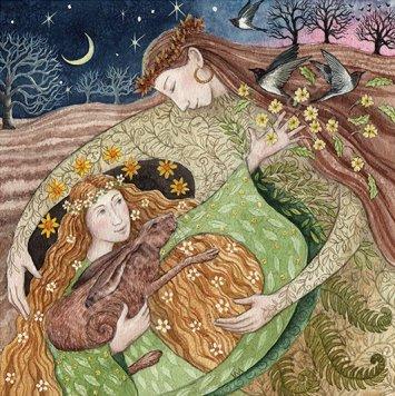 Demeter welcomes Persephone's Return - Painting Dreams