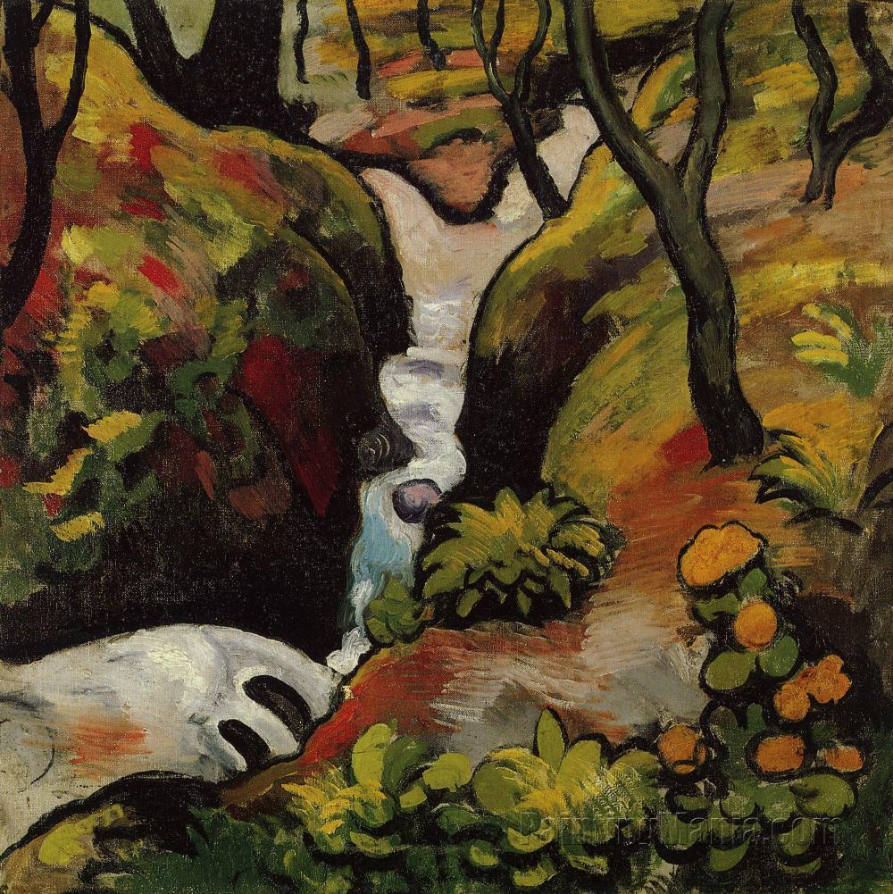 Forest Brook - August Macke Paintings