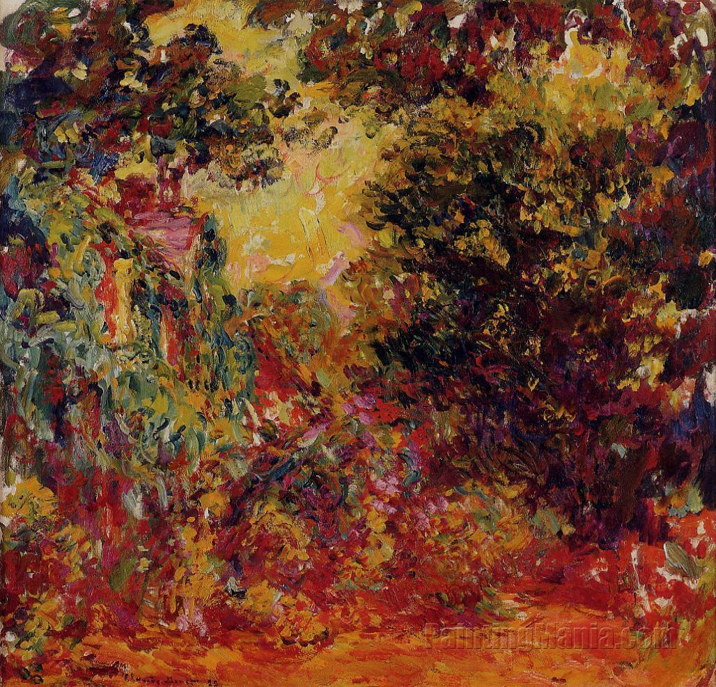 Monet Artists Garden Rose House