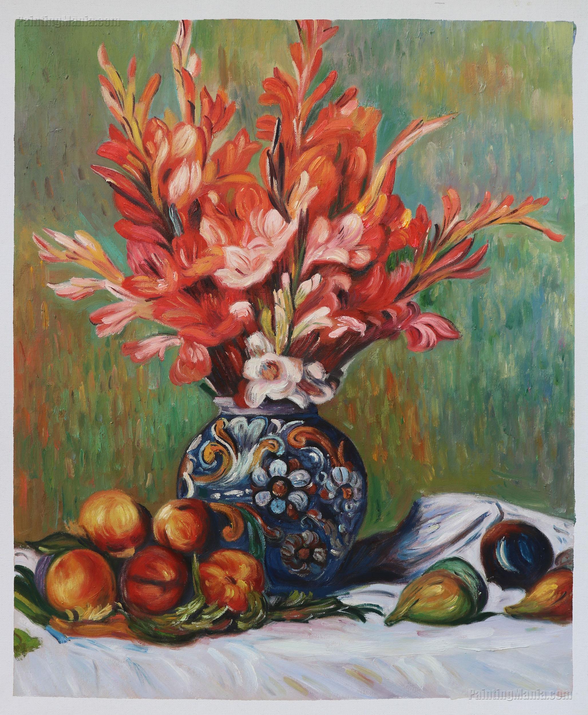 Flowers and Fruit PierreAuguste Renoir Paintings