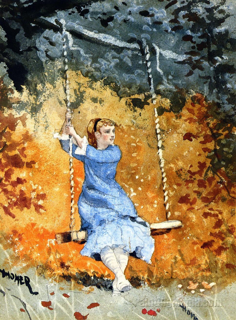 Girl Swing - Winslow Homer Paintings