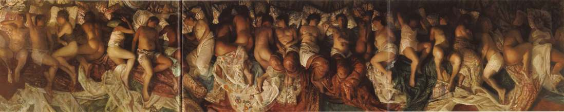 """This is the painting byVincent Desiderio, titled 'Sleep' that allegedly inspired Kanye West's """"Famous"""" music video"""