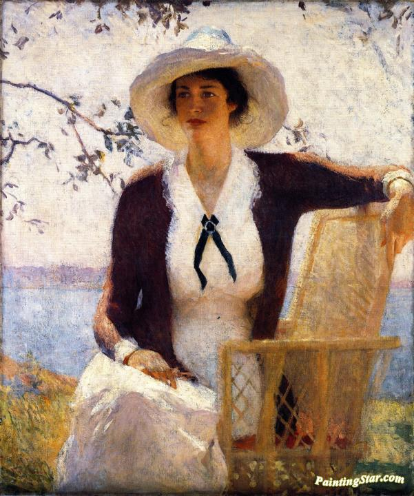 My Daughter Elizabeth Artwork By Frank W Benson Oil Painting Amp Art Prints On Canvas For Sale