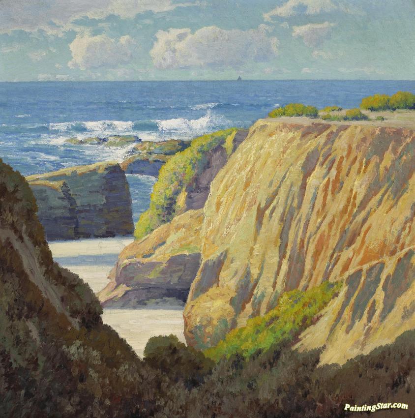 California Coast Artwork Maurice Braun Oil Painting
