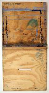 Simple Desktop Watercolor Easel opened all the way seem from top