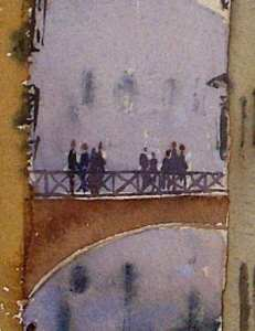 Painting the bridge and people