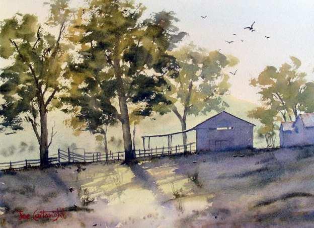 Latest watercolor landscape demo