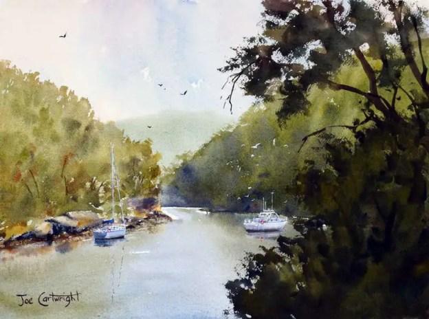 Plein air painting: Berowra Waters