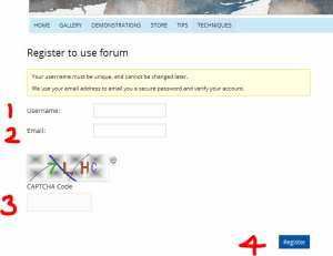 Watercolor painting forum registration page