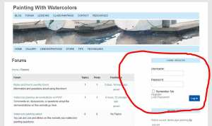 Login or register to watercolor painting forum