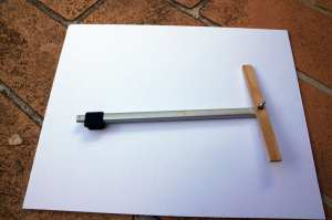 Assembled side arm ready to attach plastic watercolor palette.