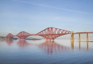 The Forth Bridge from South Queensferry. By George Gastin (Own work) [CC-BY-SA-3.0 or GFDL], via Wikimedia Commons