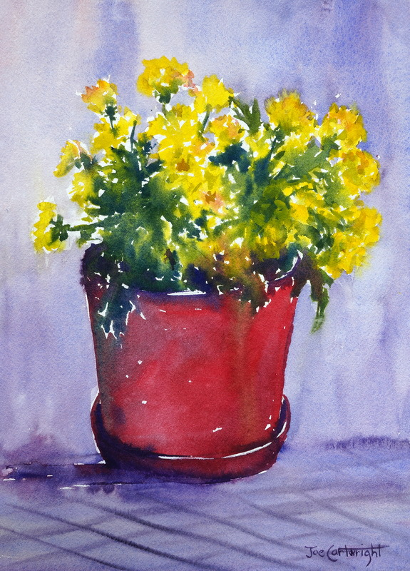 Watercolor painting Chrysanthemums