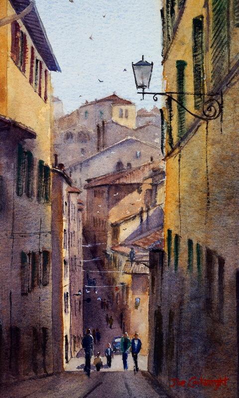 Watercolor paintings – studio organization